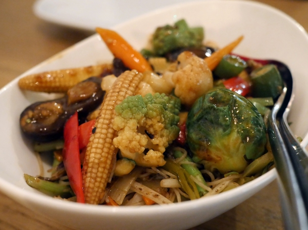 vegetarian noodles at red farm covent garden
