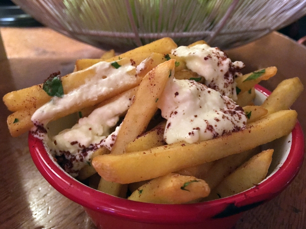 whipped feta fries at bababoom islington