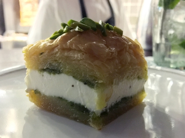 baklava ice cream sandwich at berenjak soho