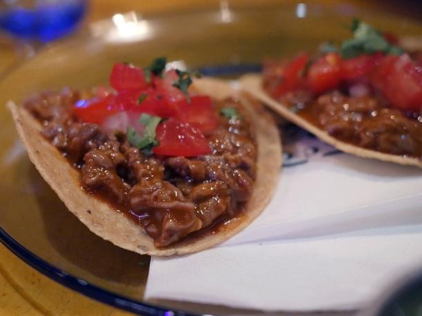 beef tostadas at casa pastor