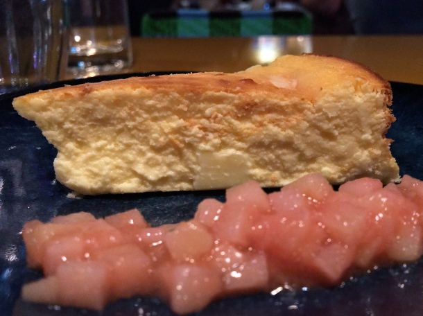 cheesecake with guava compote at casa pastor