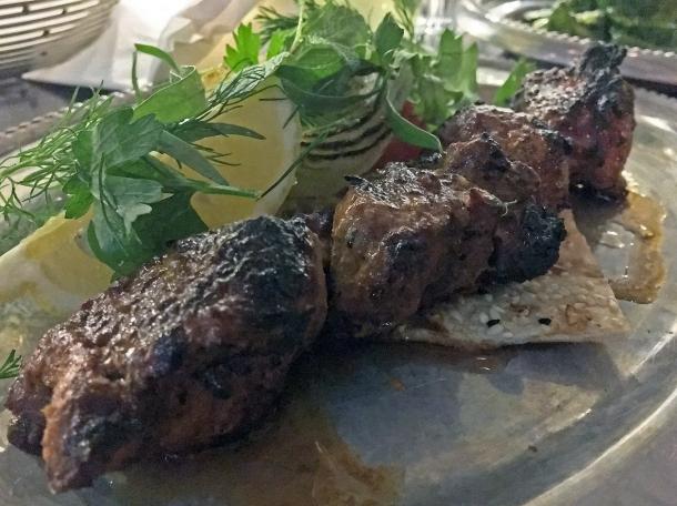 lamb kebab at berenjak