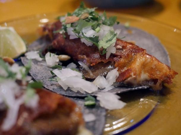 mushroom tacos at casa pastor