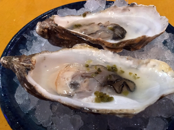 worm salt oysters at casa pastor