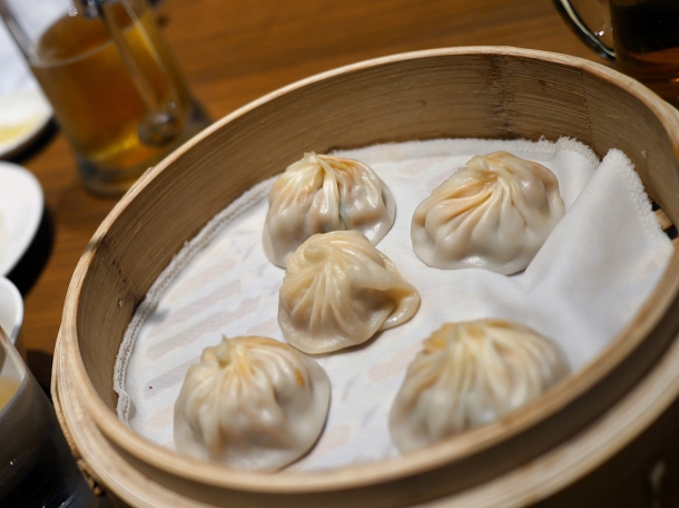 chilli crab and pork xiaolongbao at din tai fung covent garden