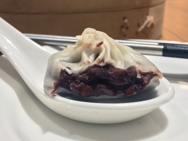 chocolate and red bean dessert xiaolongbao at din tai fung covent garden