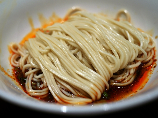 noodles in spicy sauce at din tai fung covent garden