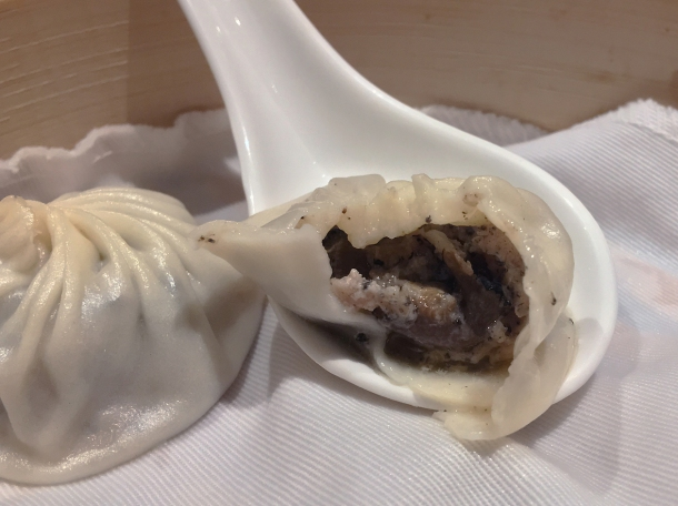 pork and truffle soup dumplings at din tai fung covent garden