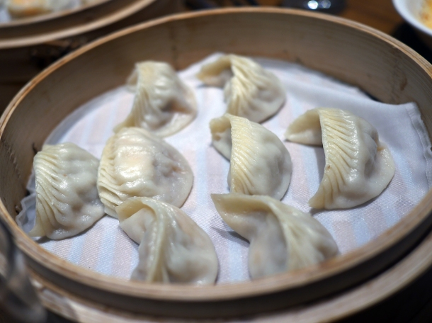 prawn and pork dumplings at din tai fung covent garden