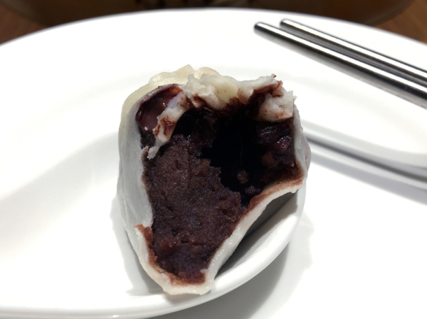 red bean and chocolate dessert dumpling at din tai fung henrietta street