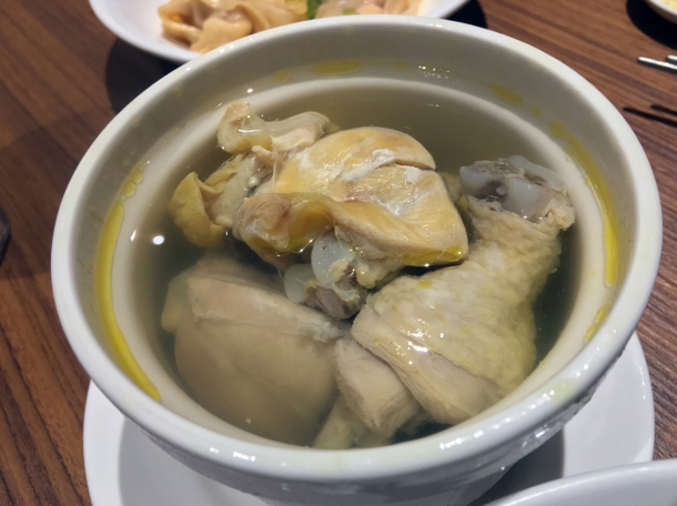 steamed chicken soup at din tai fung covent garden