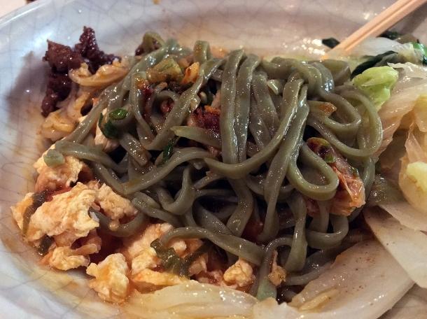spinach noodles at Murger Han Mayfair