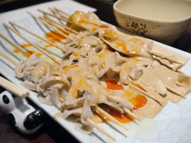 tripe and tofu-skewers-at Murger Hanhan