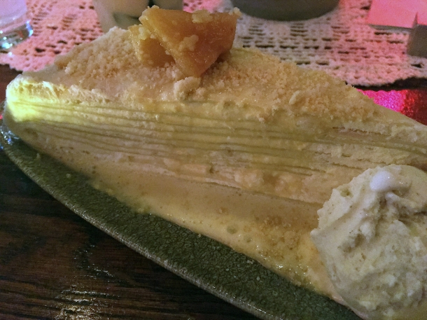 pineapple millecrepe at bao and bing