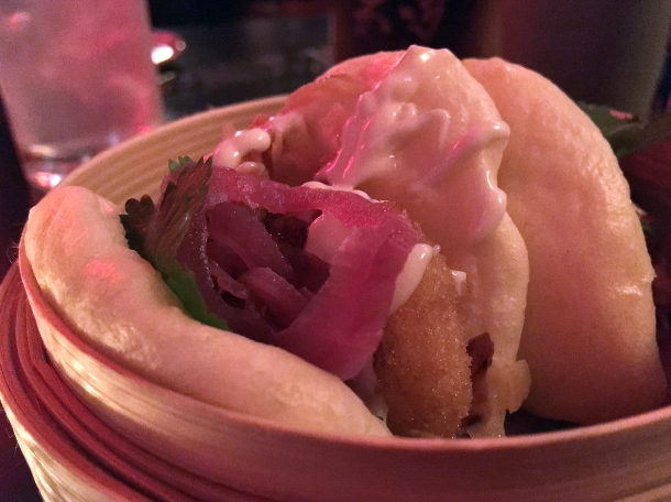 shiitake mushroom fritter bao at bao and bing