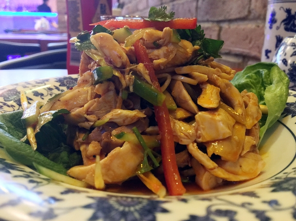 hand shredded chicken in chilli sauce at master wei