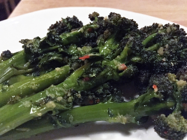 purple sprouting tenderstem broccoli at orasay notting hill