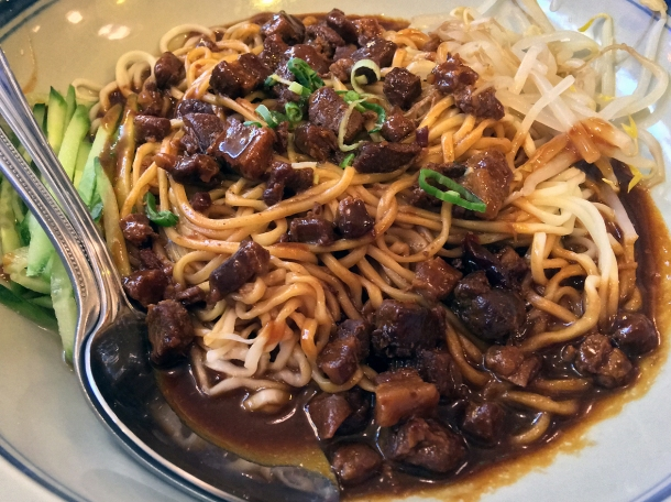 wei's hand-pulled noodles with minced pork at master wei