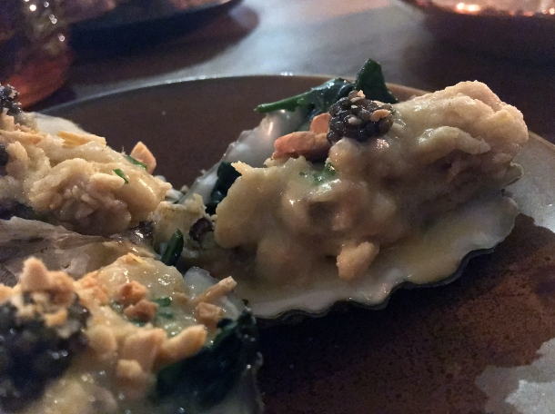 copyrighted photo of fried oysters at Barullo London