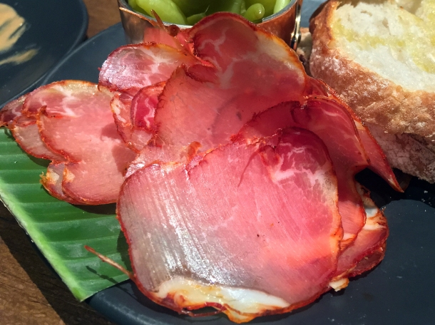 copyrighted photo of the lomo iberico at Barullo London