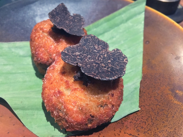 copyrighted photo of the mushroom croquettes at Barullo London