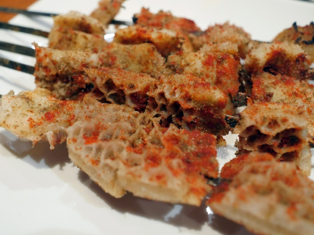 illustrative photo of the ox tripe shish kebab at Silk Road Camberwell