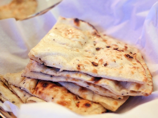 illustrative photo of the roti, paratha and naan at African Queen