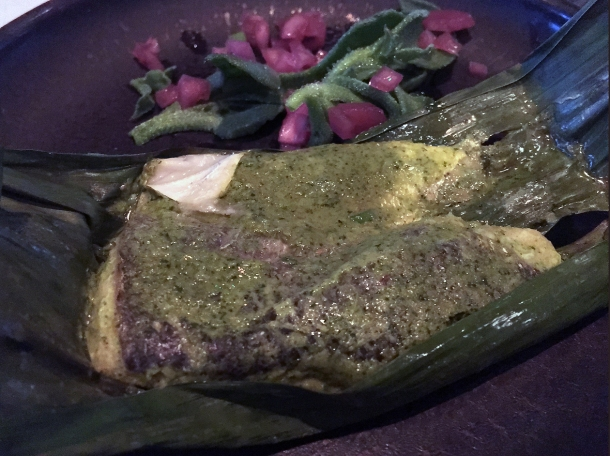 illustrative photo of the steamed seabass from the tasting menu at Kanishka