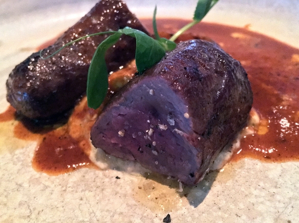 illustrative photo of the venison from the tasting menu at Kanishka