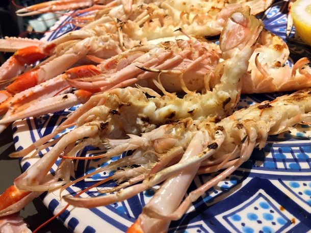 illustrative photo of the grilled langoustines at Pescheria Assunta