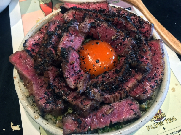 illustrative photo of the steak, egg and rice at Bao Borough