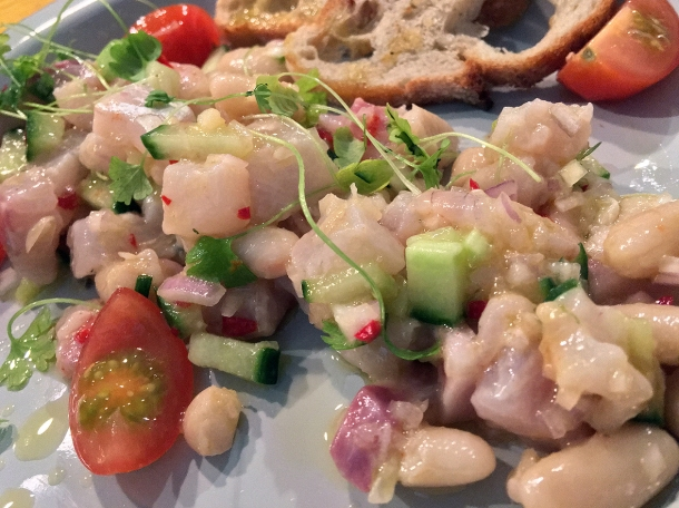 illustrative photo of the ceviche from Fish Lab at Mercato Metropolitano