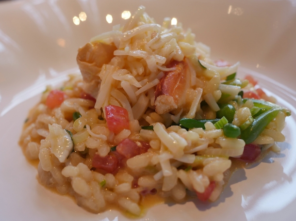 illustrative photo of the crab risotto at Siren at The Goring Hotel