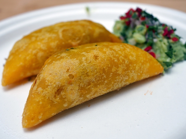 illustrative photo of the empanadas from La Cumbia at Mercato Metropolitano.
