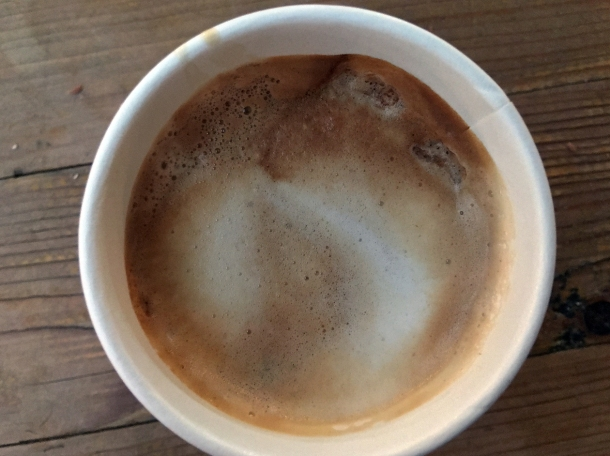 illustrative photo of the flat white from Caffe Latino at Mercato Metropolitano