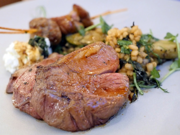 illustrative photo of the lamb with sweetbreads at Wild Honey St James