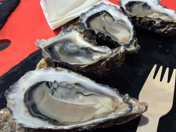 illustrative photo of the Rock oysters from Fish Lab at Mercato Metropolitano