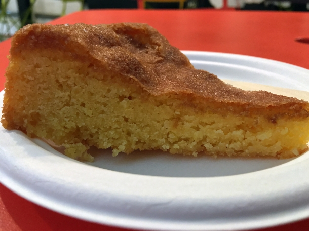 illustrative photo of the polenta cake from Caffe Latino at Mercato Metropolitano