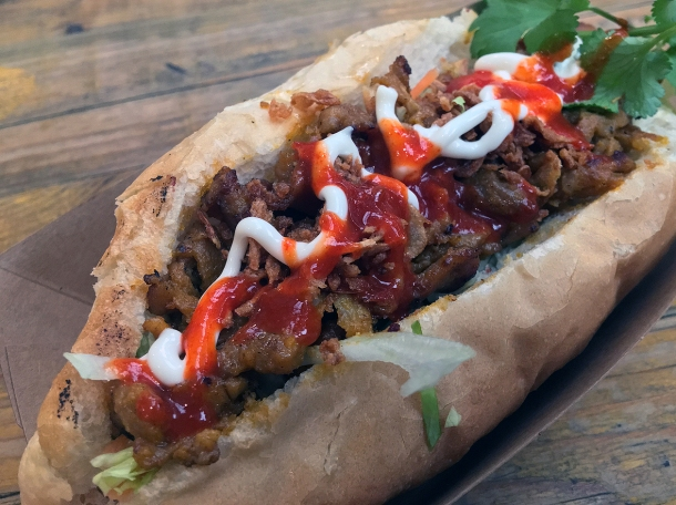 illustrative photo of the pork banh mi at Mercato Metropolitano