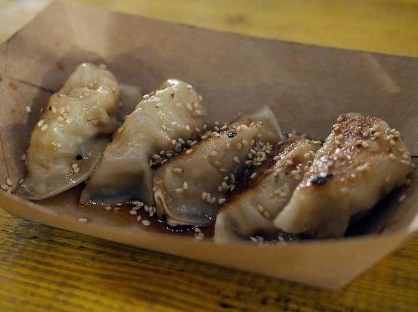 illustrative photo of the pork gyoza from Juzu at Mercato Metropolitano