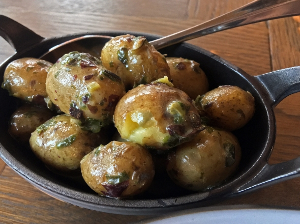 illustrative photo of the potatoes with seaweed butter at Wild Honey St James