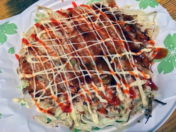 illustrative photo of the spicy okonomiyaki from Maido at Mercato Metropolitano Southwark