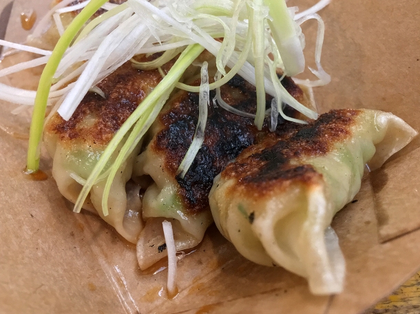 illustrative photo of the vegetable gyoza from Juzu at Mercato Metropolitano