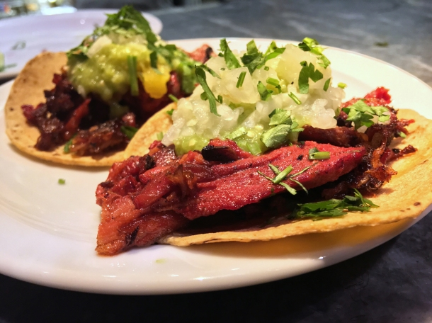 illustrative photo of the al pastor tacos from Pastorcito at Arcade Food Theatre Centre Point