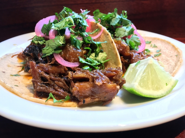 illustrative photo of the beef short rib tacos from Pastorcito at Arcade Food Theatre Centre Point