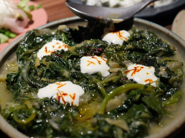 illustrative photo of the chard and wild spinach at Nutshell Covent Garden