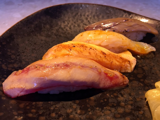 illustrative photo of the four-piece aburi sushi from Chotto at Arcade Food Theatre Centre Point