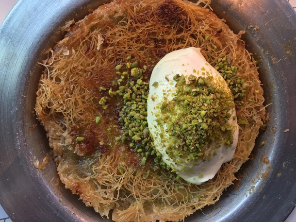 illustrative photo of the kanafeh from Oklava at Arcade Food Theatre Tottenham Court Road