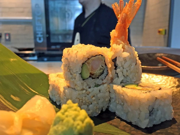 illustrative photo of the prawn tempura uramaki from Chotto at Arcade Food Theatre Centre Point