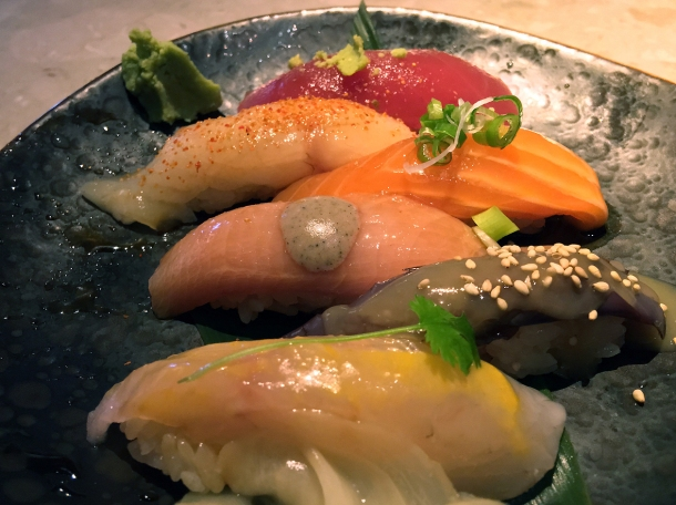 illustrative photo of the six-piece nigiri sushi from chotto at arcade food theatre centre point